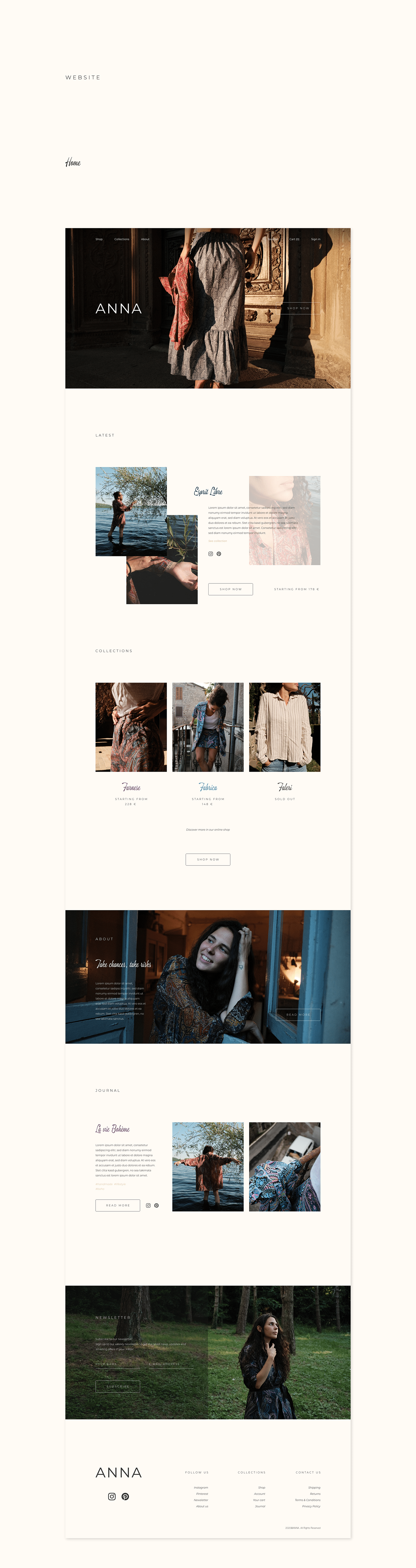 Homepage of ANNA by Anna Graziani website