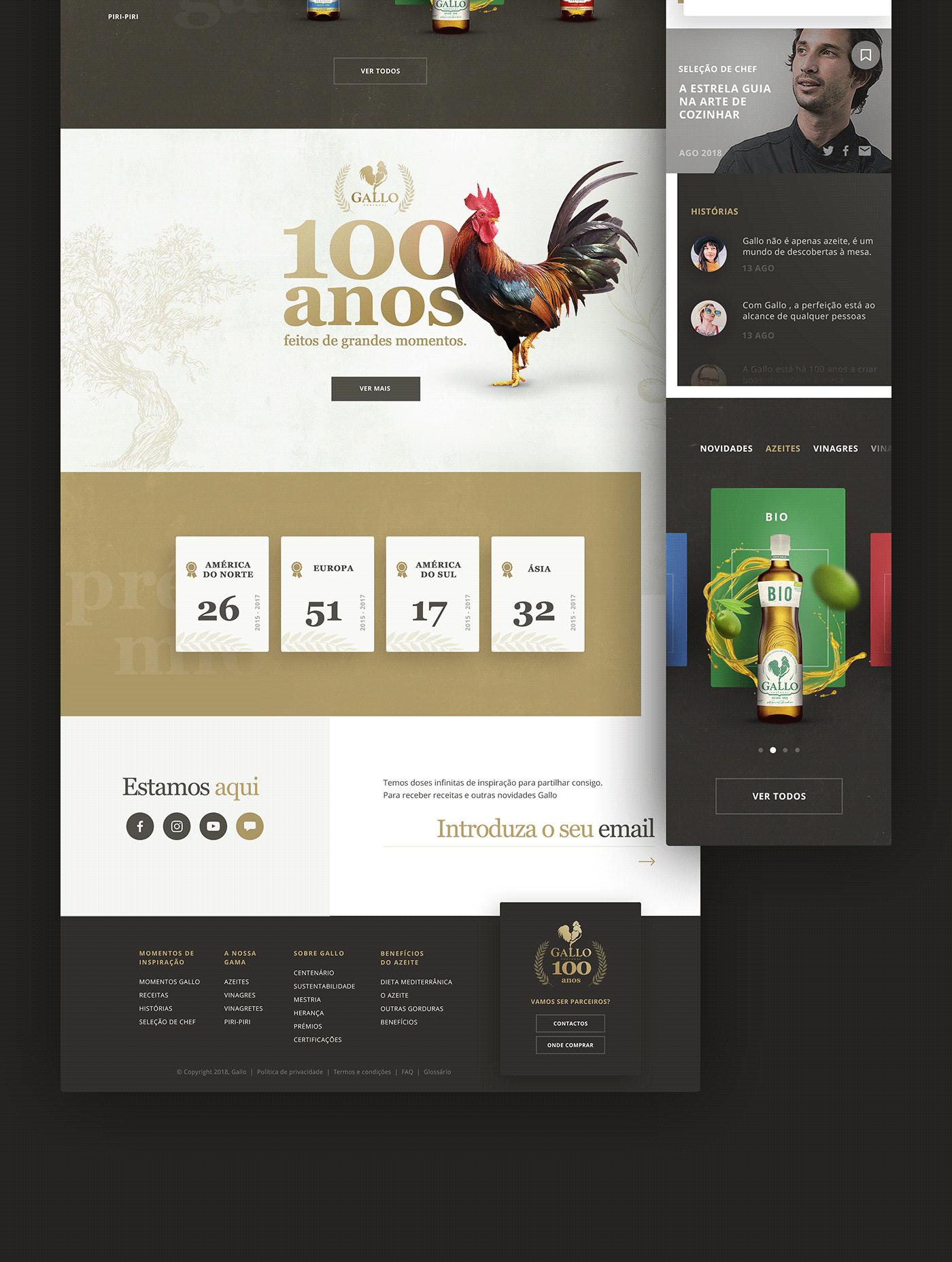ux UI Interface user Experience graphic gallo oliveoil AZEITE filipesj