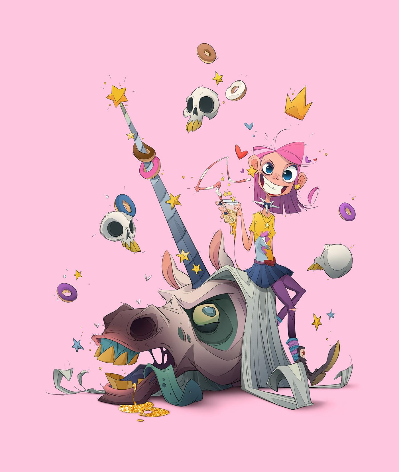 animation  cartoon Character design  characters concept ILLUSTRATION  unicorn