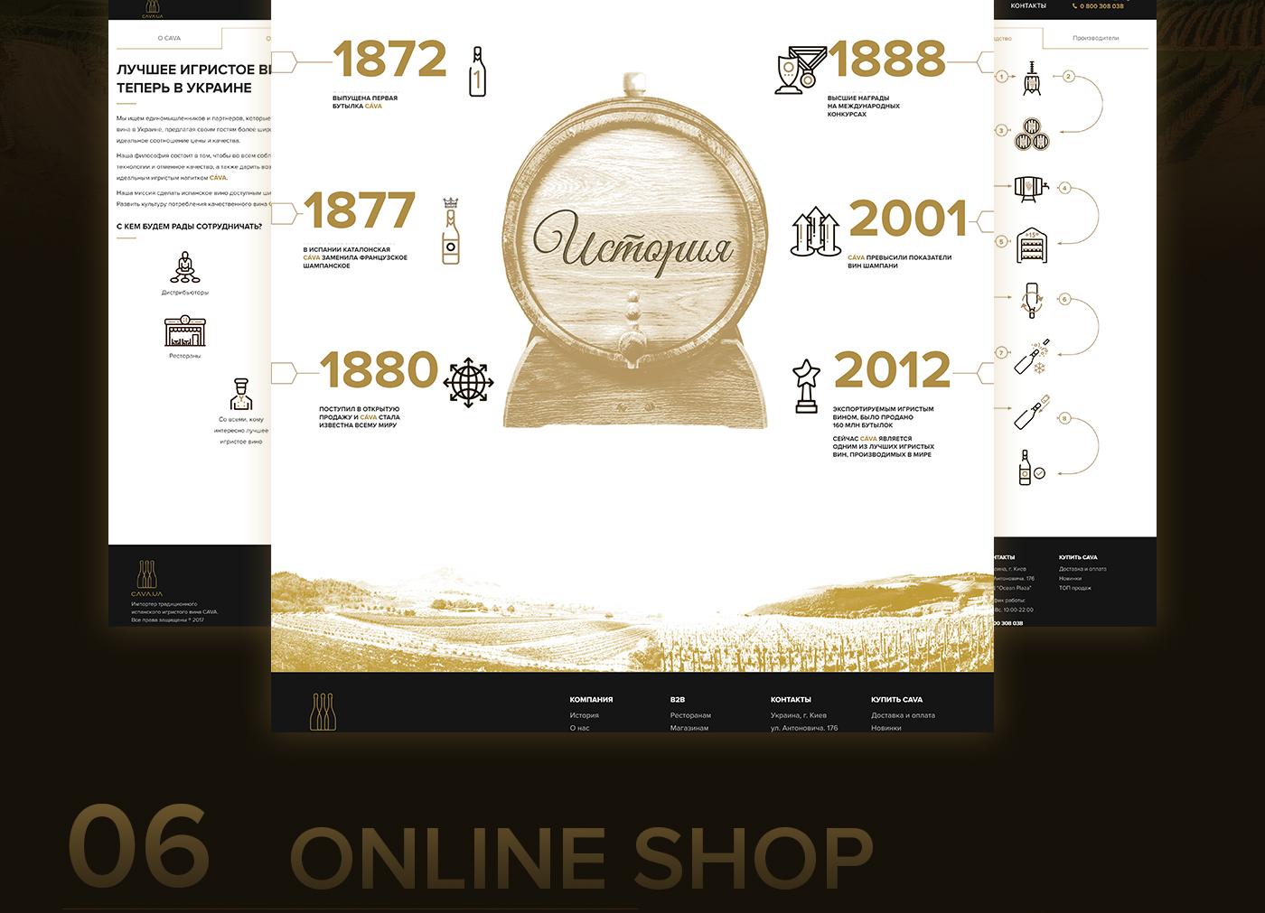 cava design Web site wine grapes b2b UI ux
