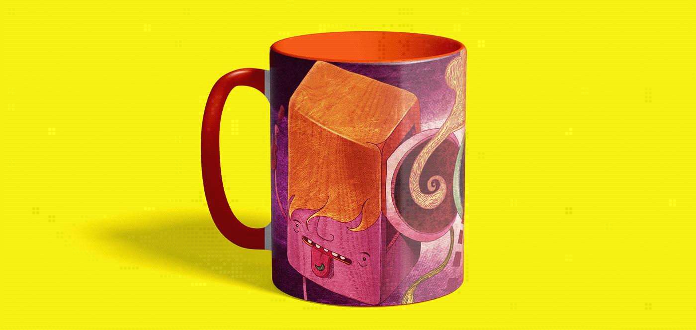 Image may contain: vase, art and mug