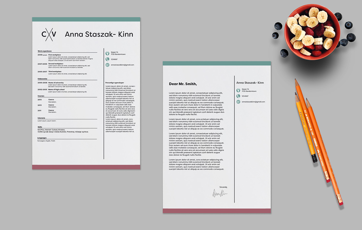 Cv and reference letter templates on behance delicate cv and reference letter templates font used filson soft spiritdancerdesigns Images