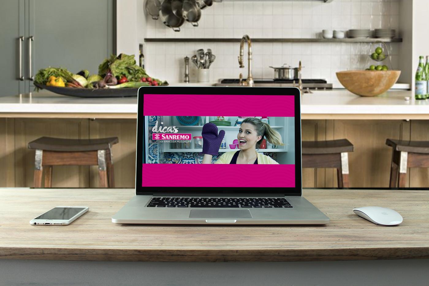 miniatura video graphic design  digital design Redes Sociais cards sanremo receitas culinária DIY