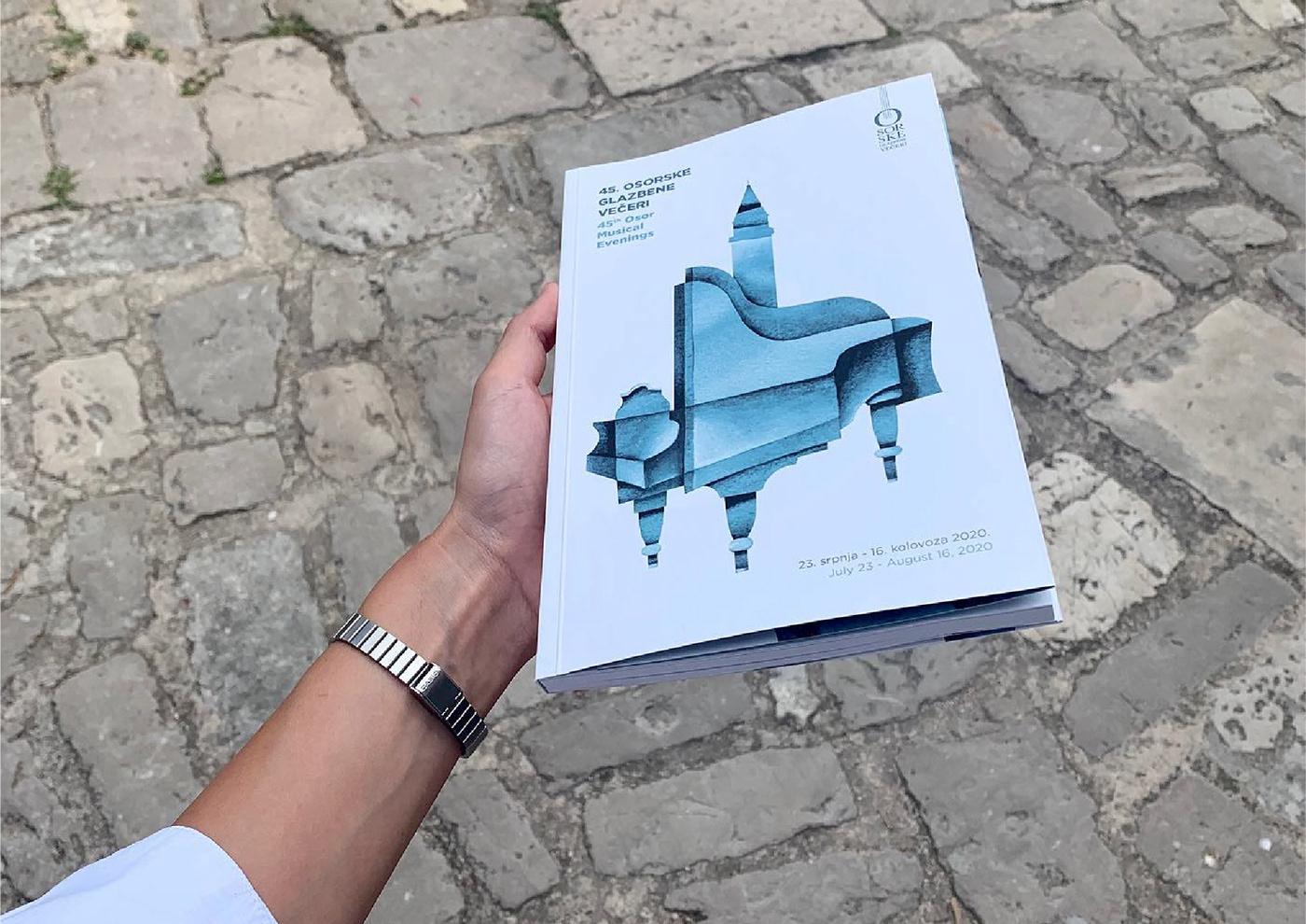 adriatic branding  classical music Cres Croatia festival osor visual Iva Marušić Osor Musical Evenings