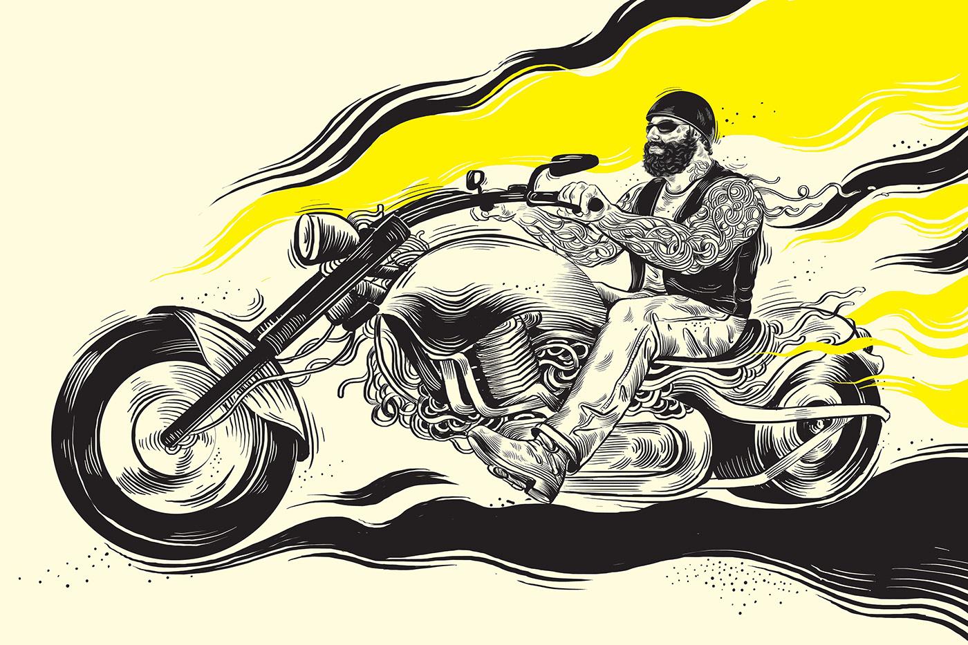 ILLUSTRATION  Digital Art  biker concept art
