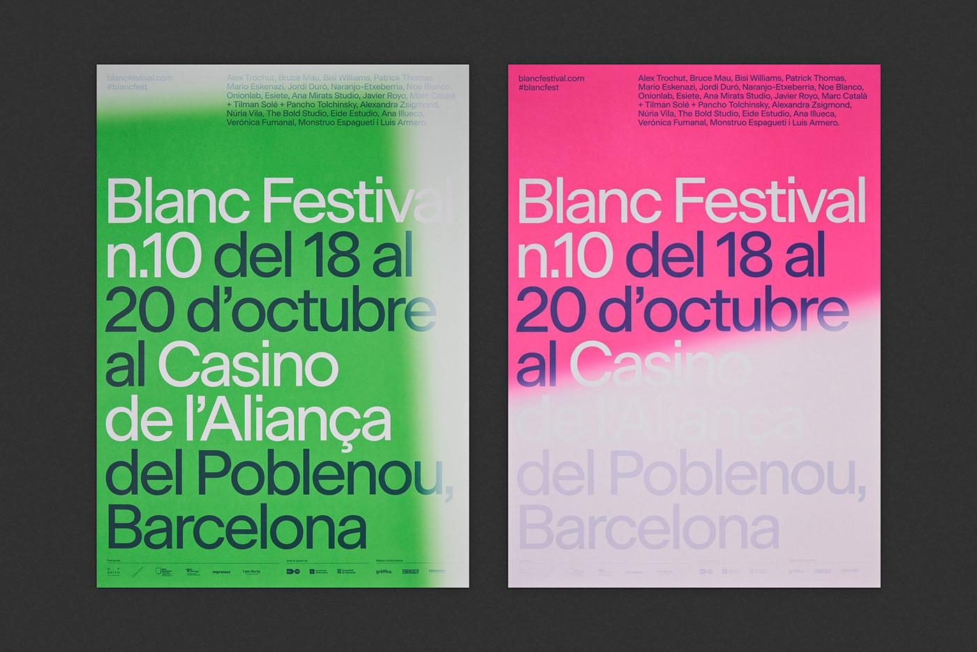blanc festival graphicdesign fluor typography   barcelona forma
