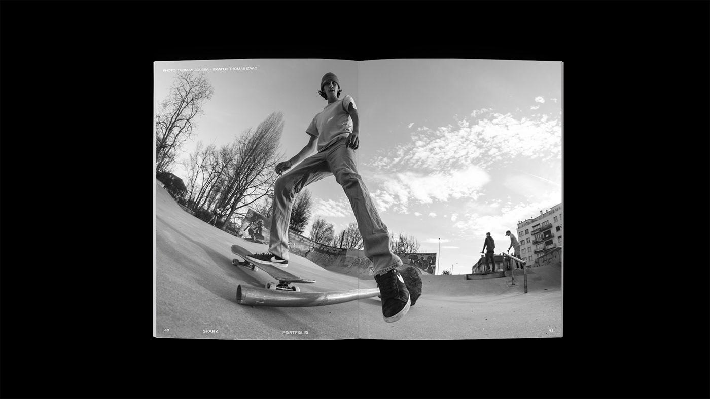 Image may contain: skating, man and black and white