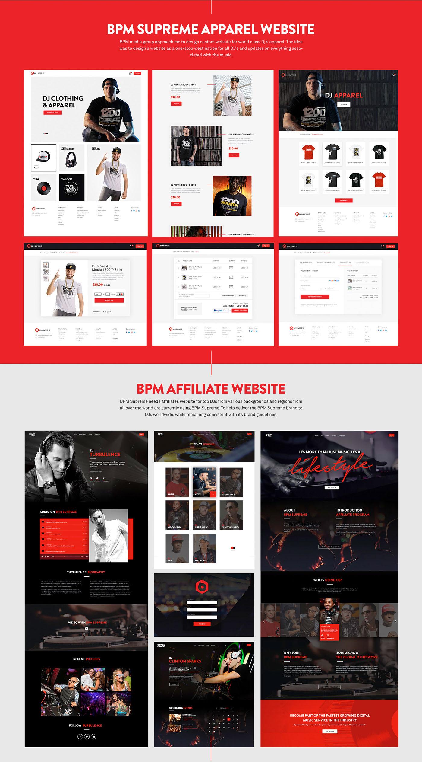 BpmSupreme: Music Djs Website UI/UX Design on Behance