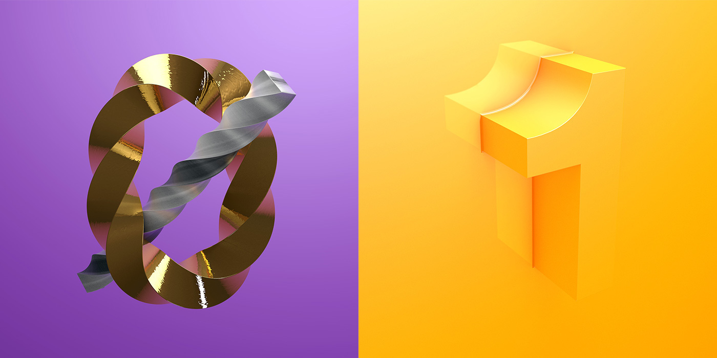 cinema 4d material lighting texturing modeling 36 days type Character 3D letter Form daily 36daysoftype physical inspire