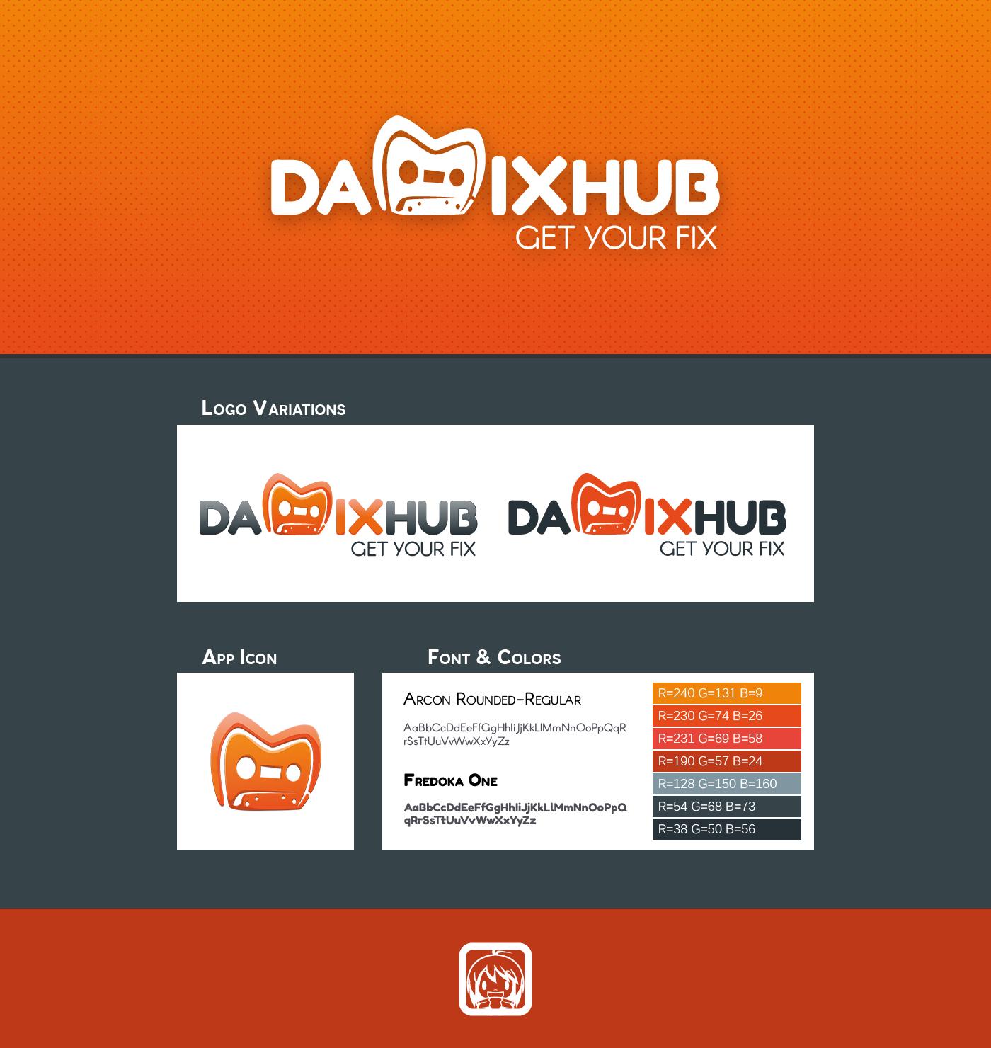 Google Play app application damixhub mix mixtape android Icon logo