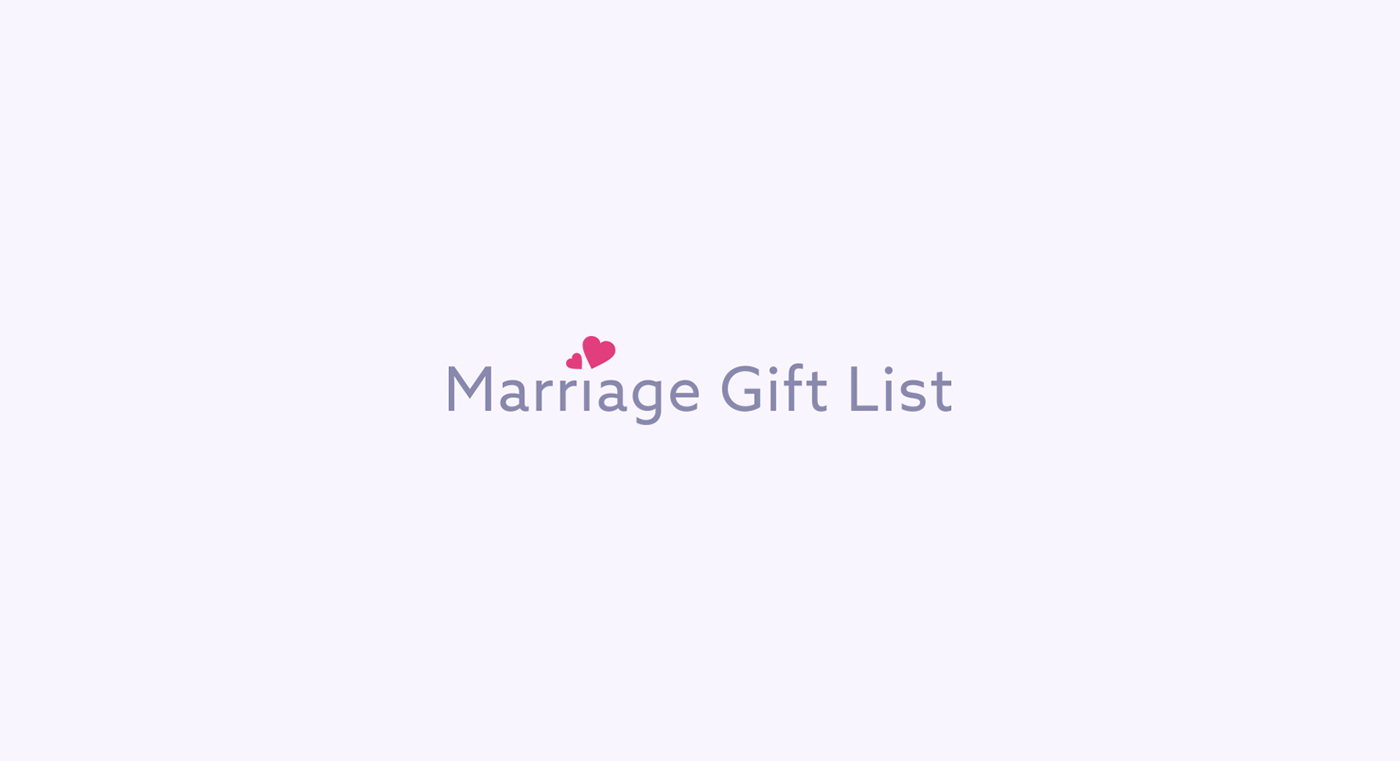 Marriage Gift List On Behance