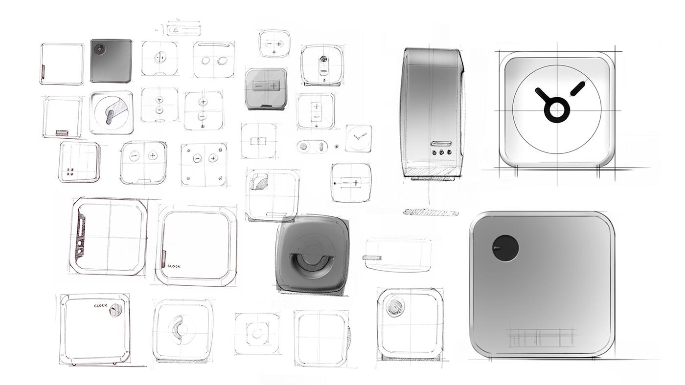 clock time Minimalism design slimdesign SLIMTIME concepts Alarm clock alarm wekker