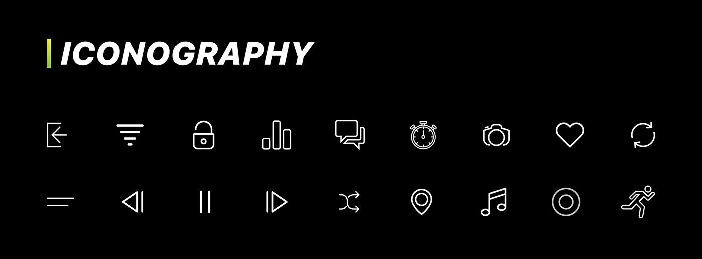 ui ux graphic design  puma pumatrac user interface Running App iOS App fitness fitness app Mobile app