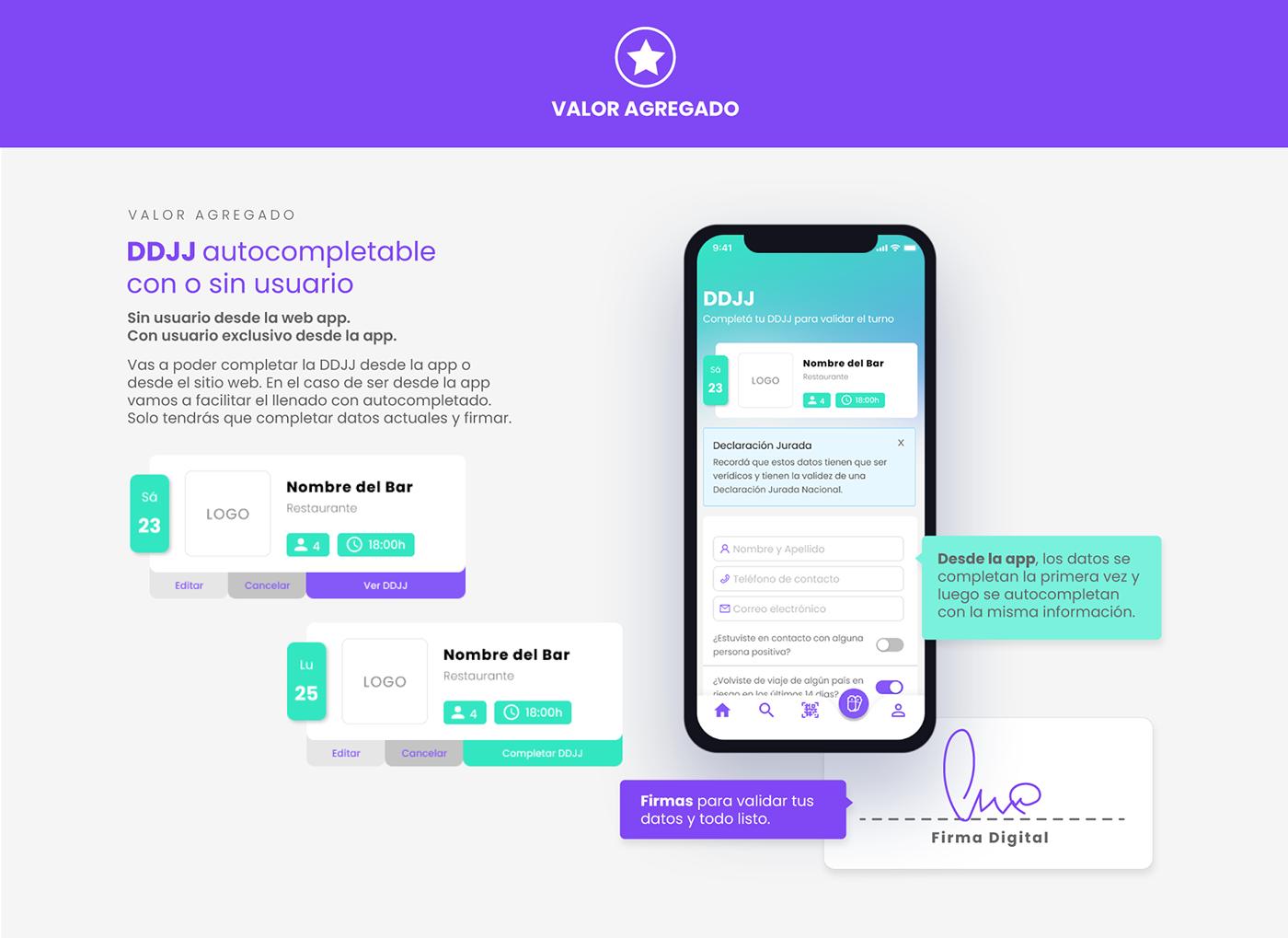 app design Figma mobile product design  Product Manager prototipo reservas UI ux