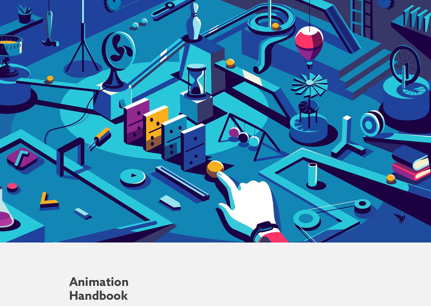 Animation handbook animation  motion conceptual book UI/UX ux UI interface design experience design