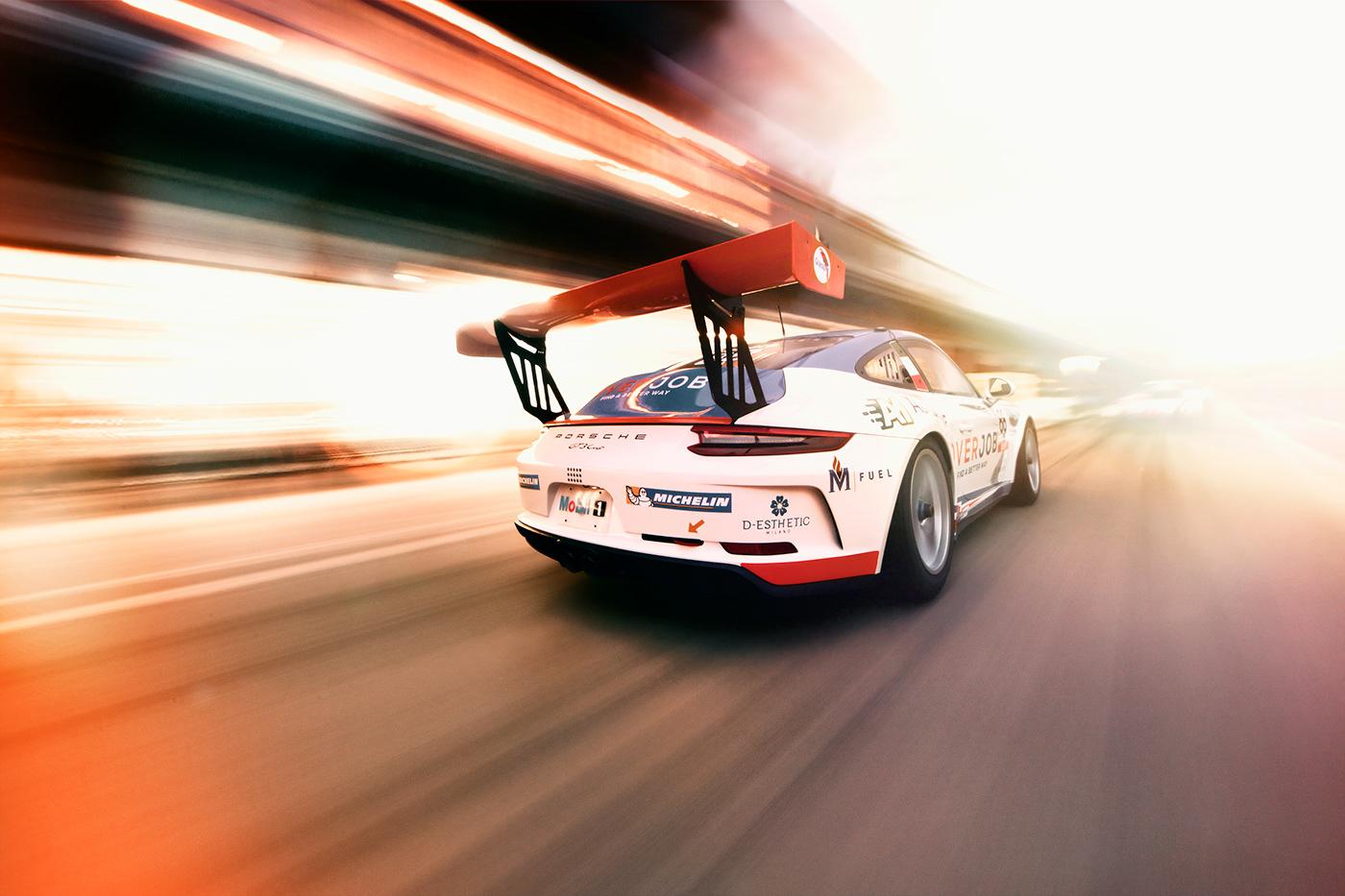 Porsche GT3 GT3RS porsche cup porsche italia automotive   race Racing race car panning