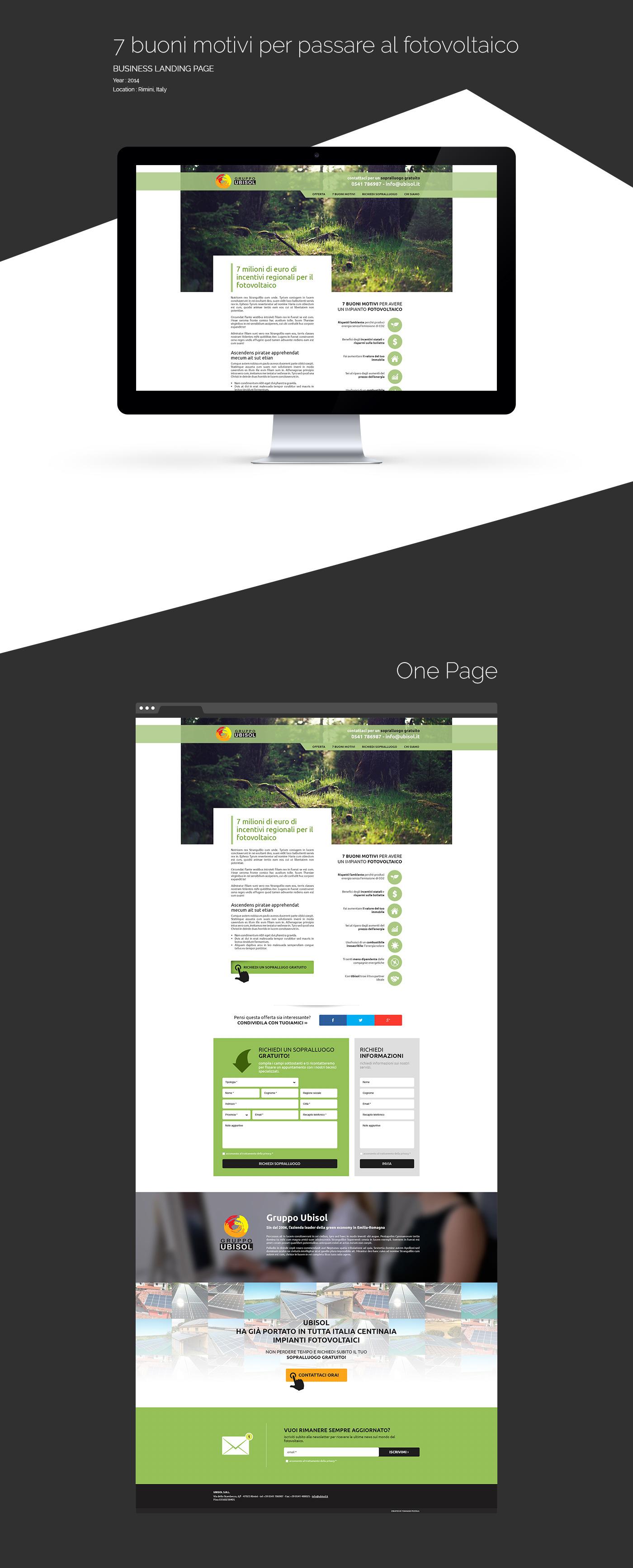 Website landing page Web One Page Web marketing Webdesign Nature business energy