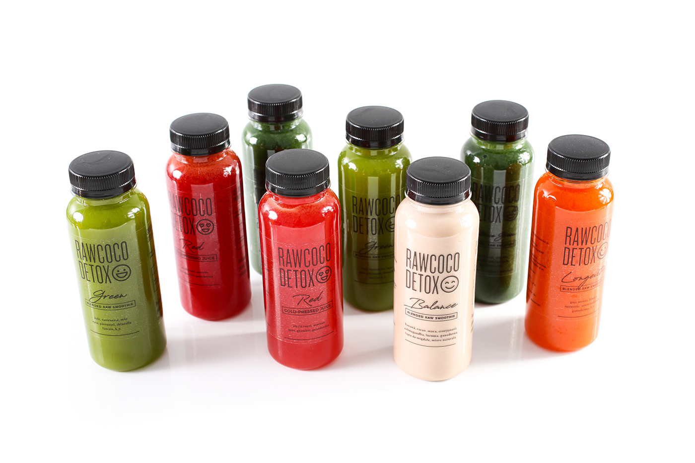 RawCoco bottle bottle design Packaging packaging design graphic design  minimalist juice Cristi Ursea Dsgnr Studio
