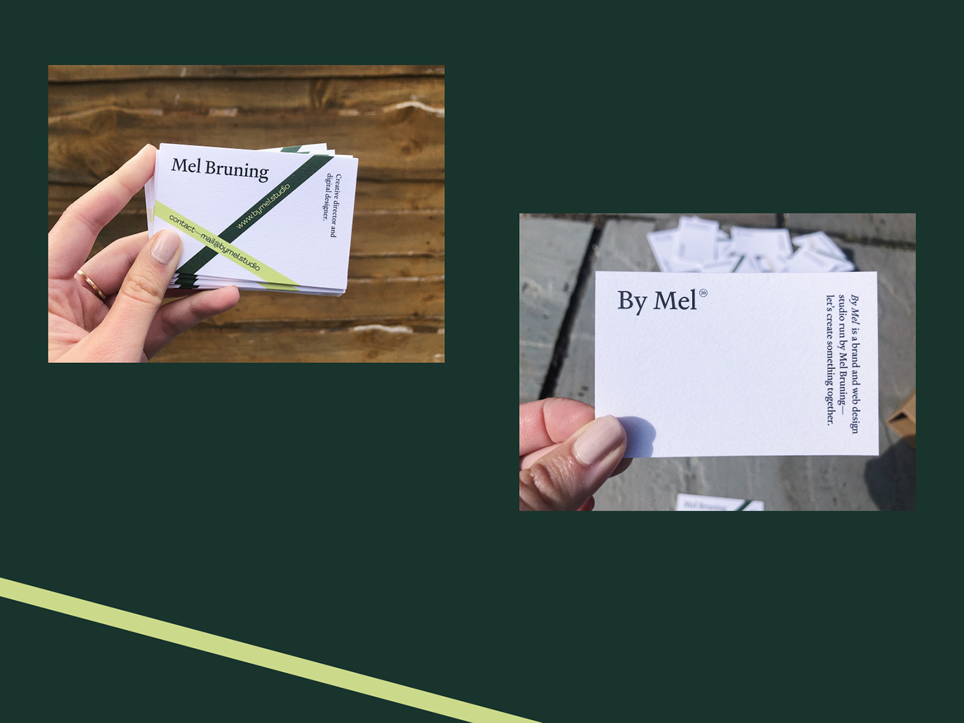 brand brand identity branding  Business Cards cards Freelance graphic design  minimal modern portfolio