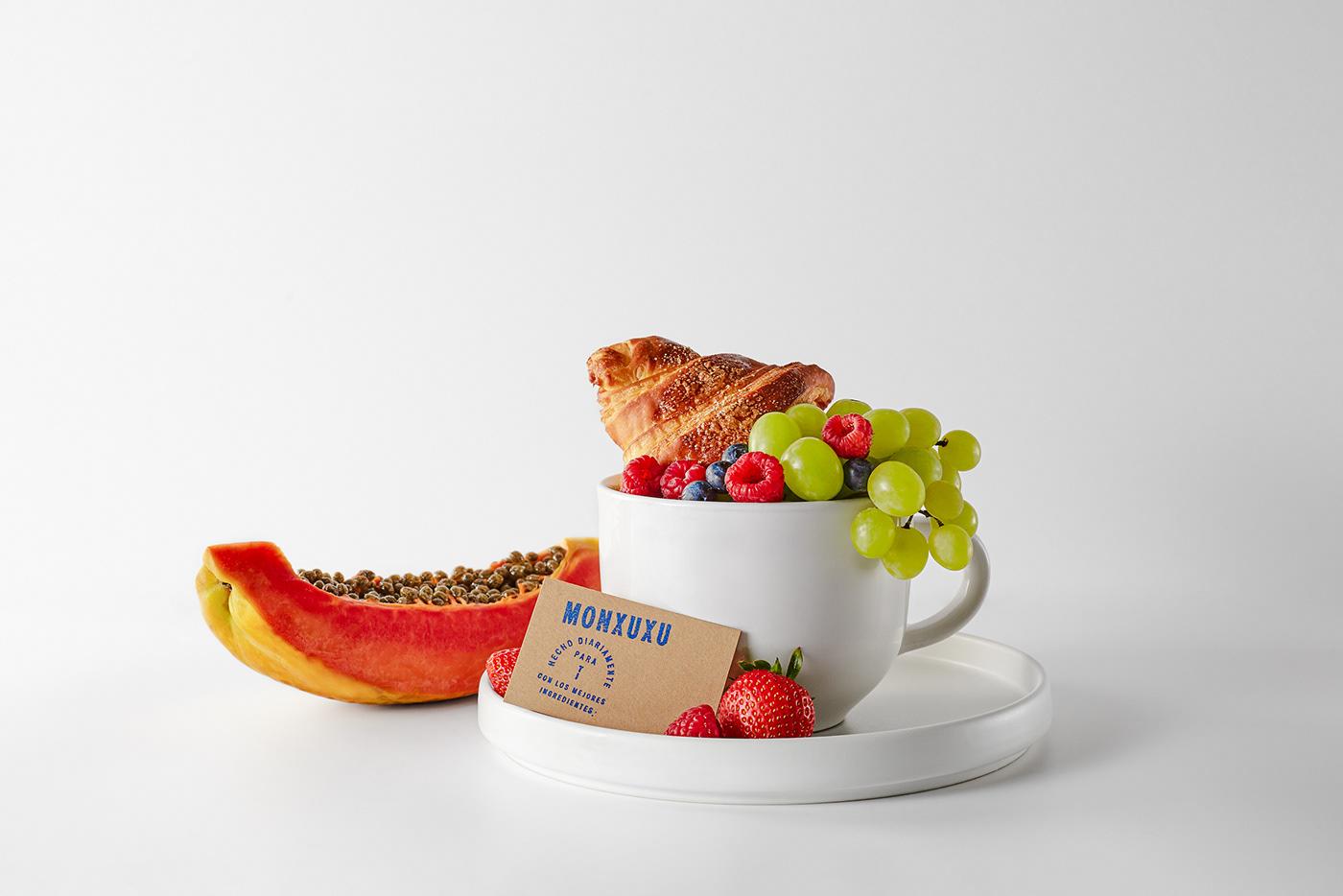 artisanal bakery branding  coffee shop mexico MONXUXU vegrande