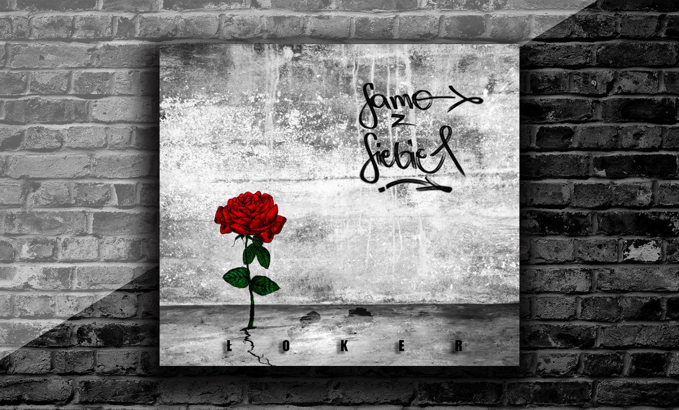 music cd Packaging design hip hop sound cover rap rose