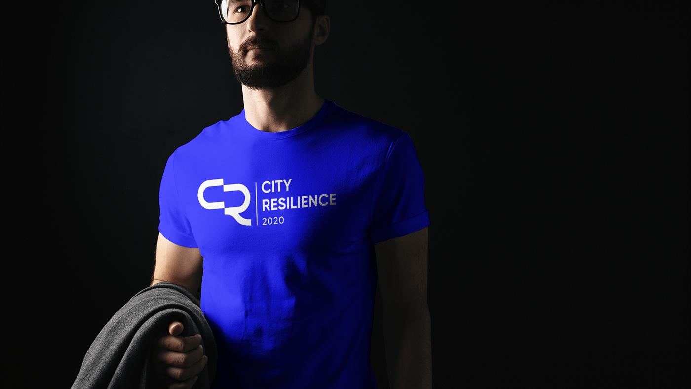 conference blue architecture city resilience University CR logo R logo alexandria mousa