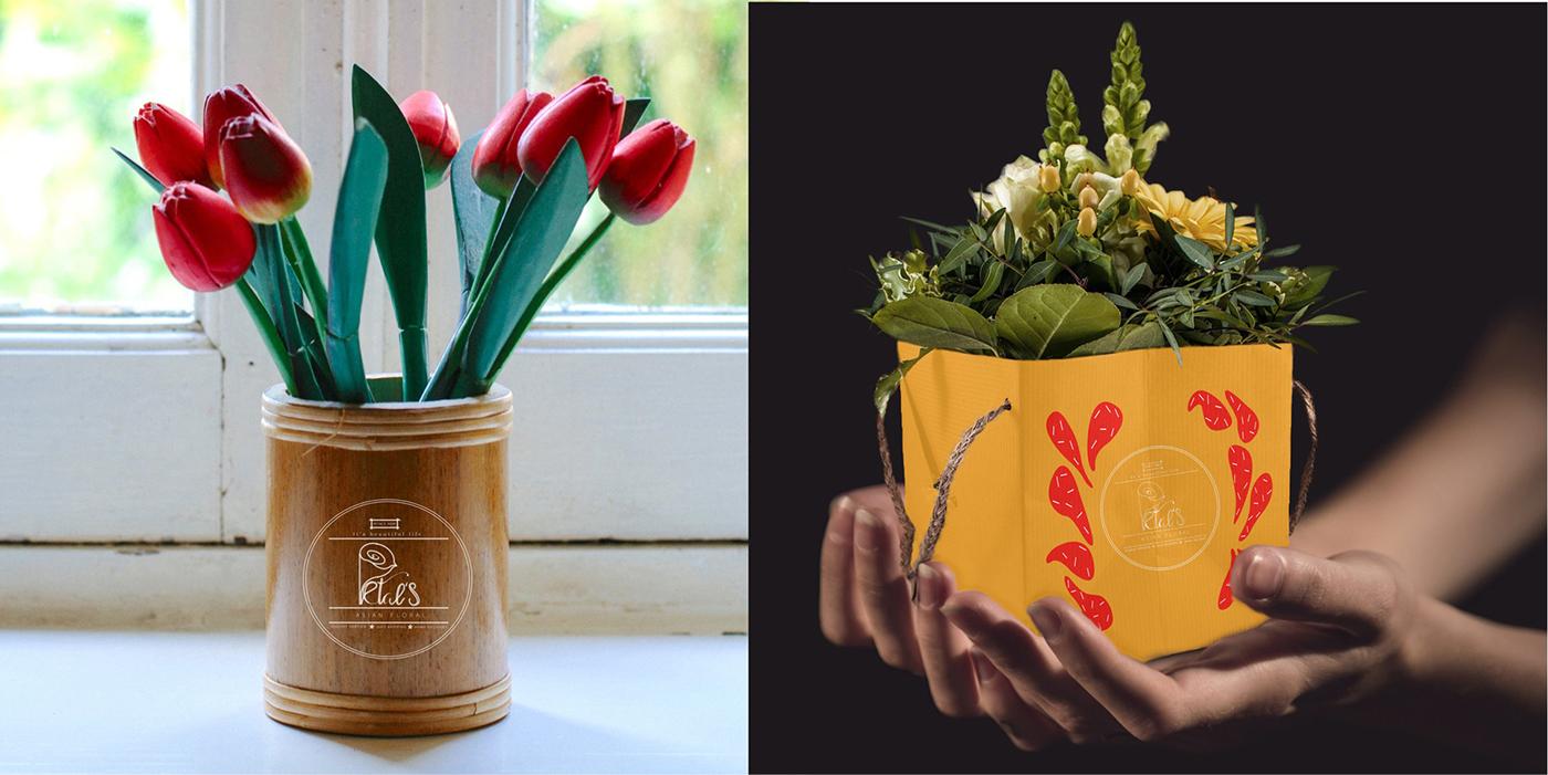 Petals Shop Brand Identity Logo Cards On Behance