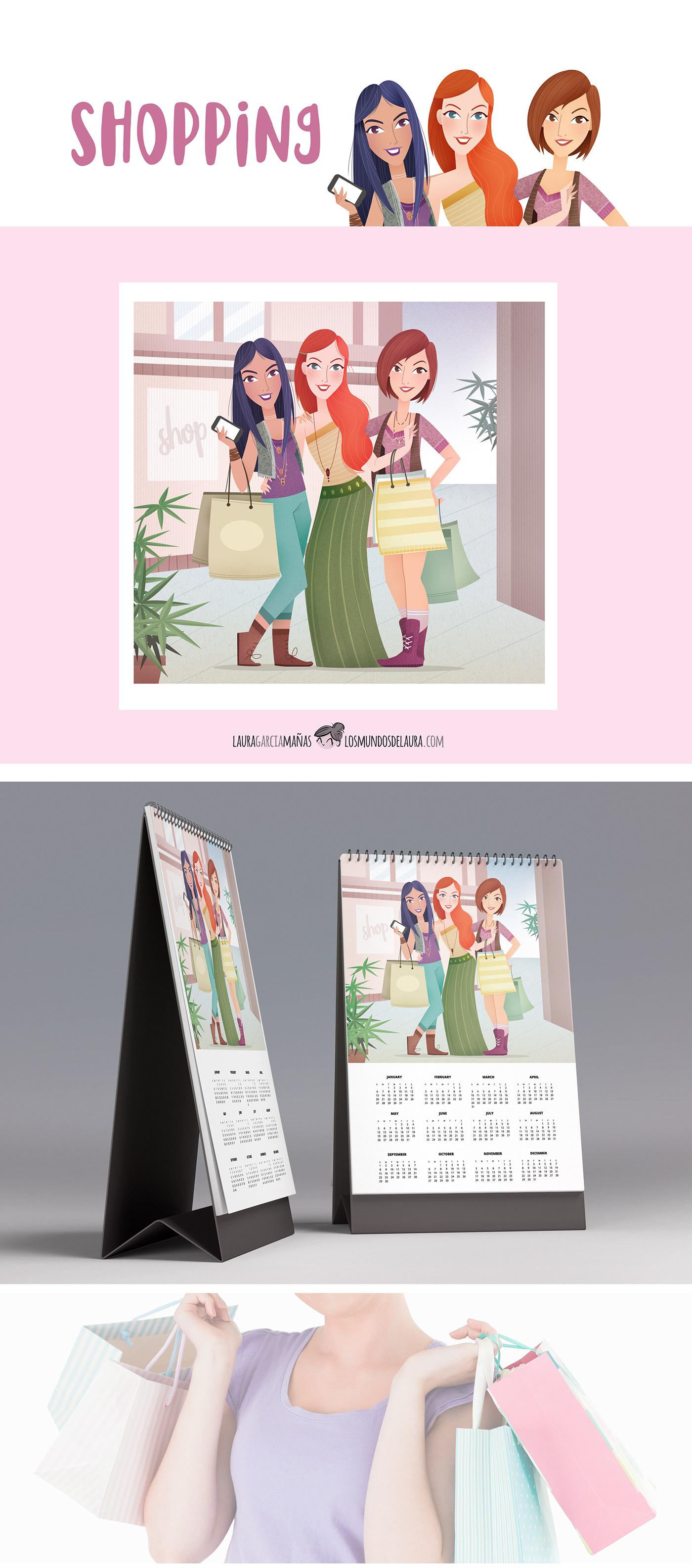 calendarios Shopping pharmacy girls Chicas farmacia