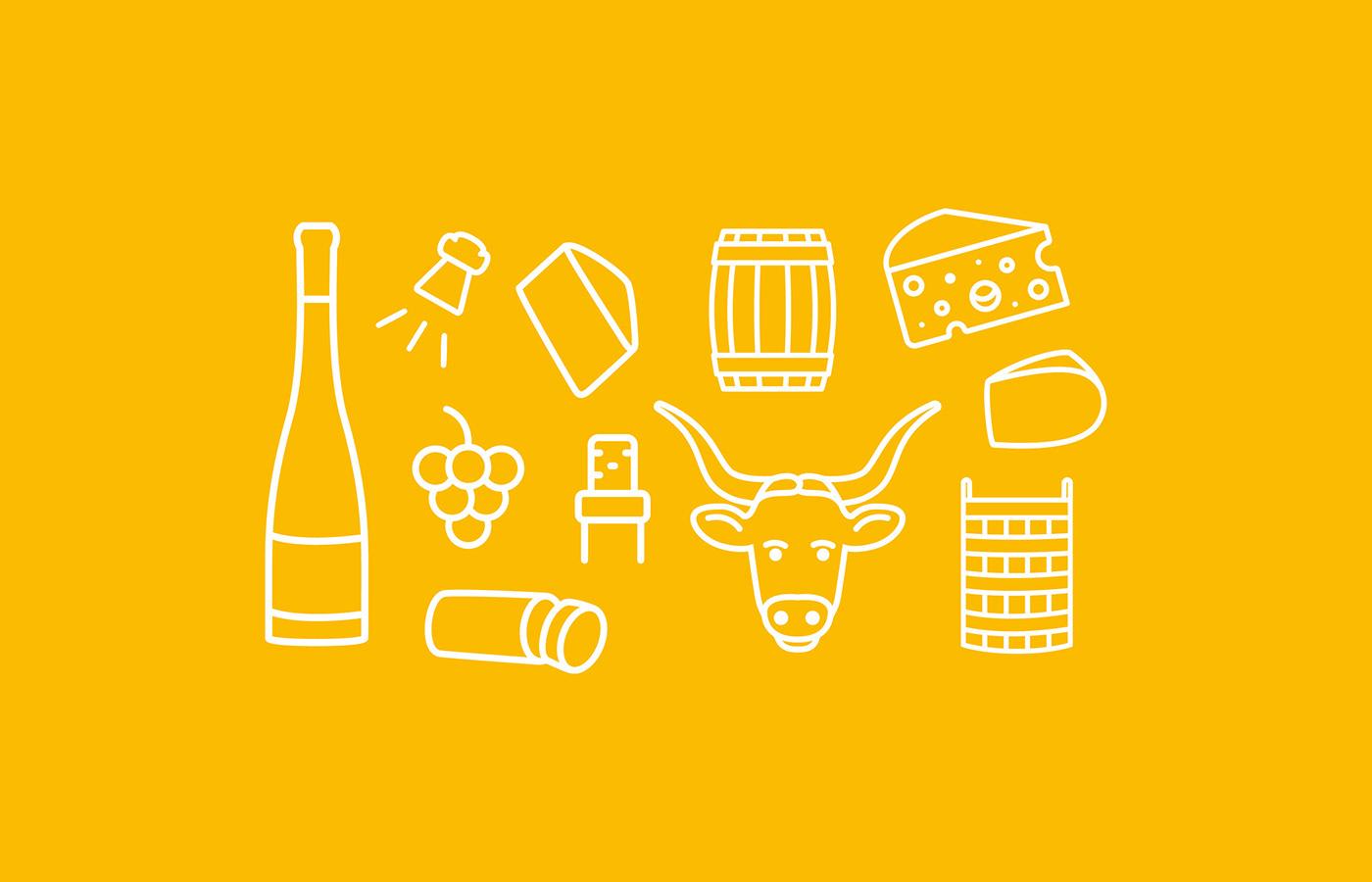 logo Logotype Vins wine bar menu identité visuelle charte graphique graphic design