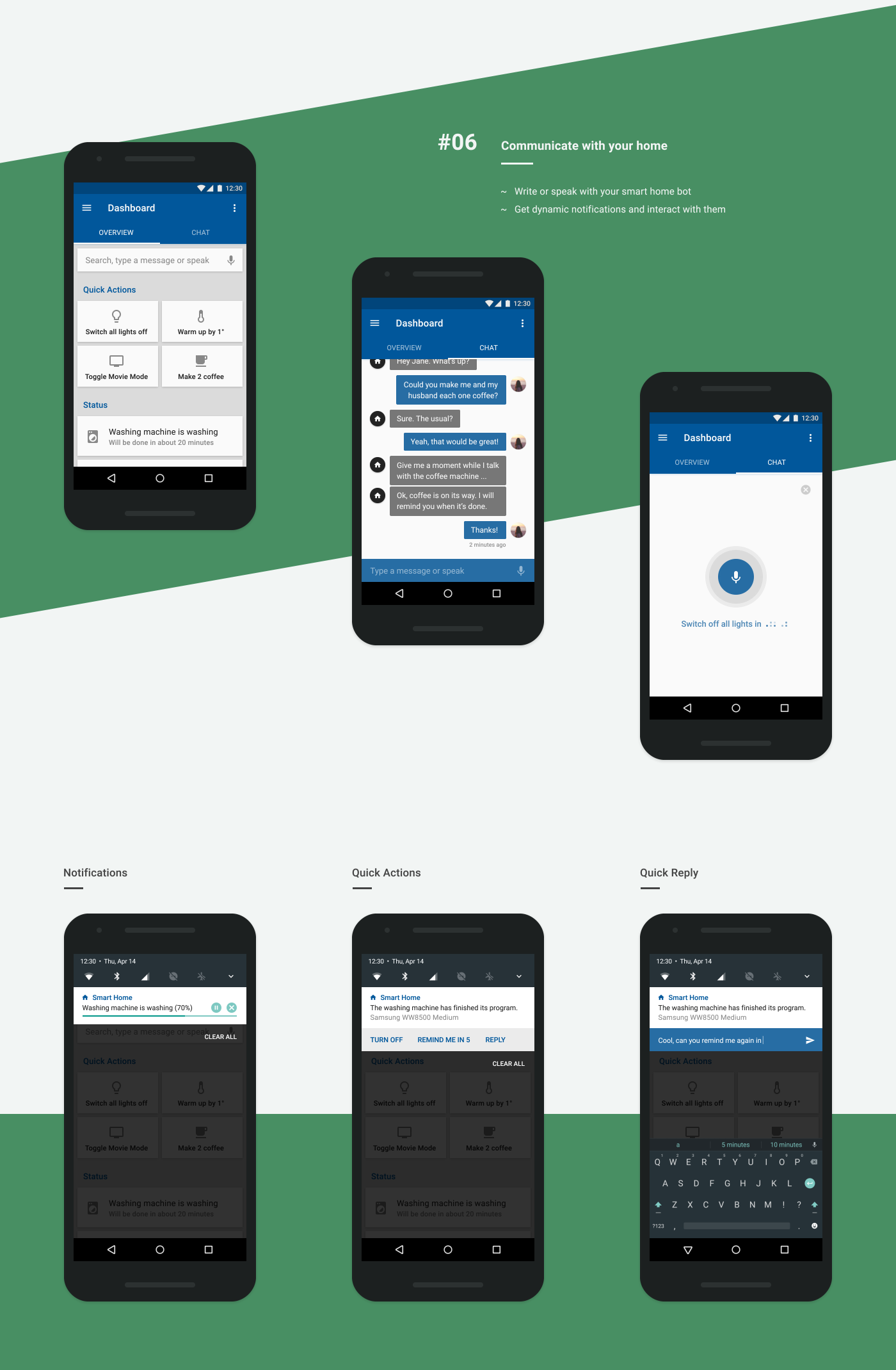 Smart Home UI ux android material design concept design