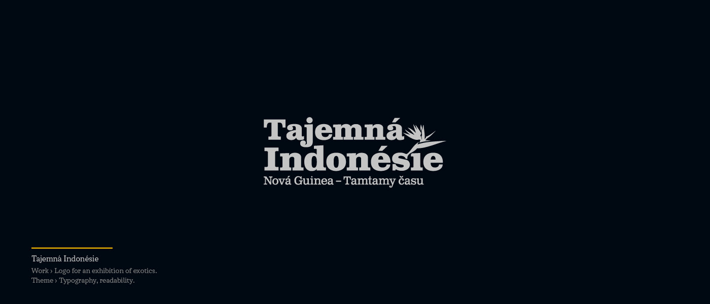 Tajemna Indonesie - Logo for an exhibition of exotics