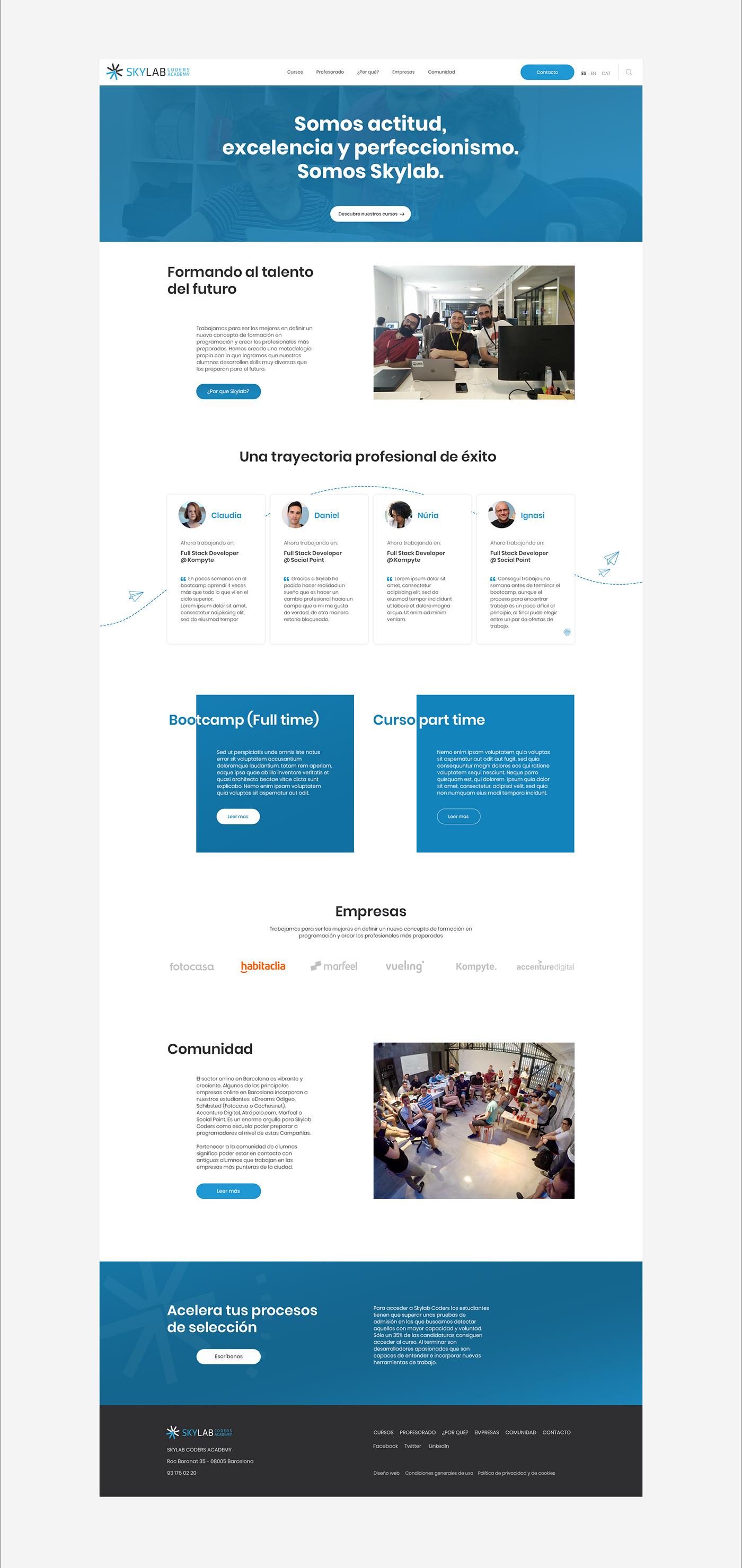 academy Coders coursed digital art direction digital design ui design visual design Web Design