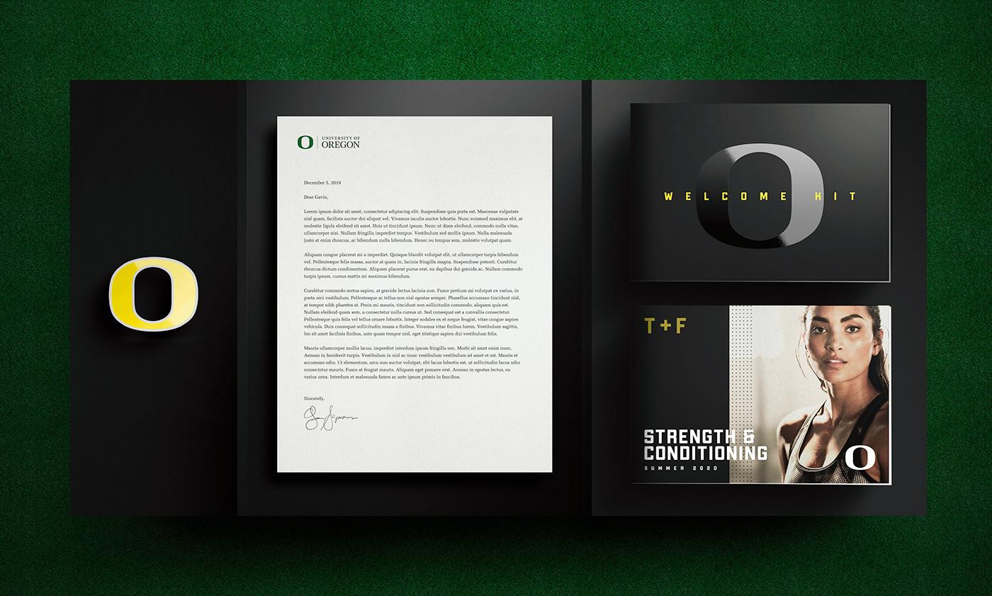 University of Oregon ducks track and field branding  print sports Nike