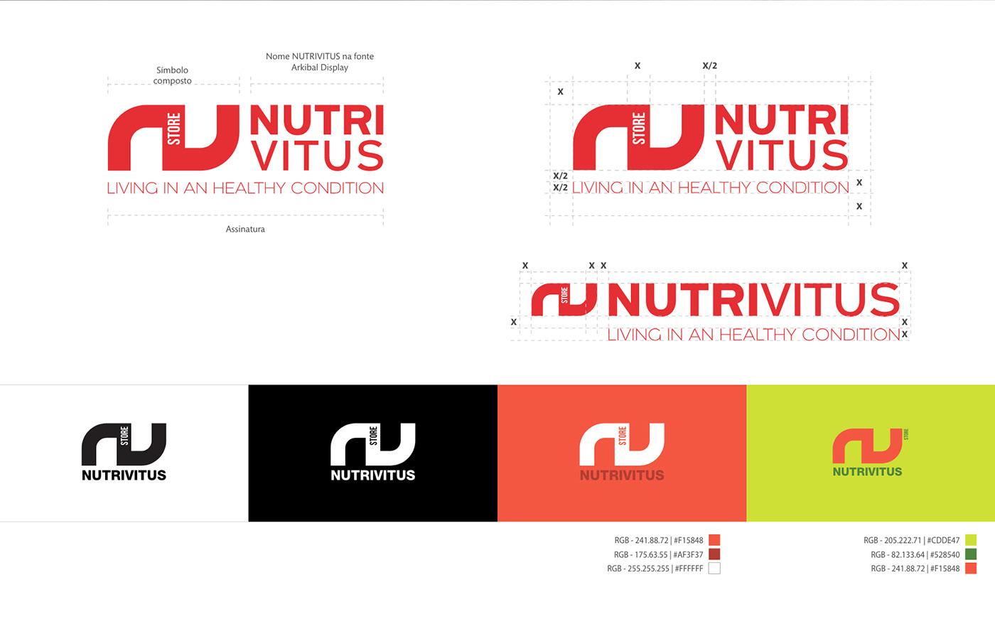 nutrivitus Logo Design graphic design  brand Health sports