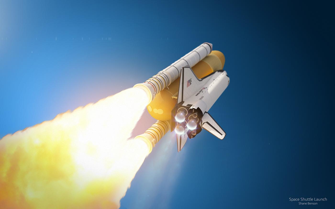 space shuttle 3D cinema 4d c4d vray rocket