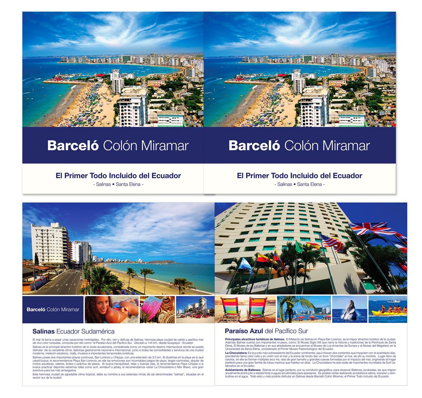 brochure Ecuador salinas Travel discover ecuador desing folleto logo Photography  beach