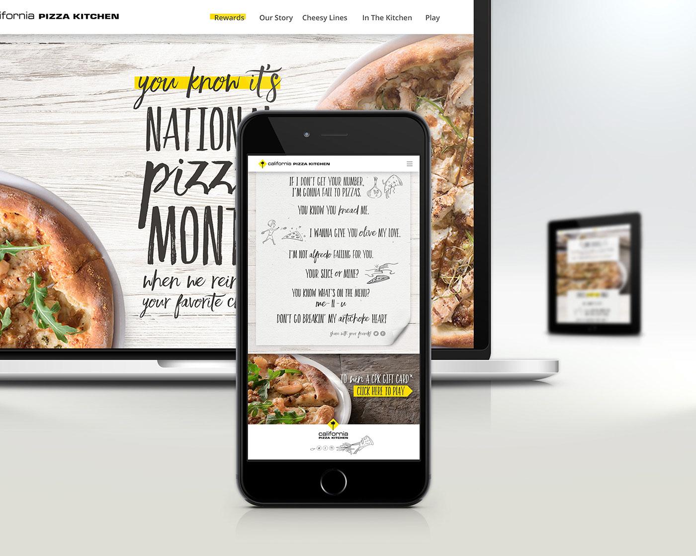 California Pizza Kitchen Digital Campaign on Behance