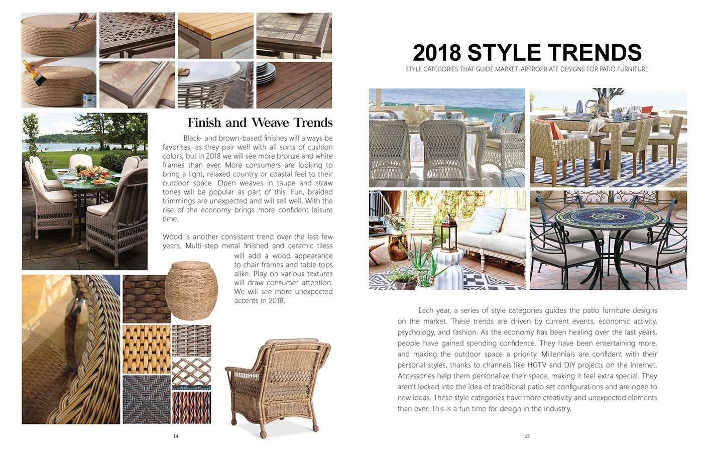 2018 Outdoor Furniture Trends On Behance
