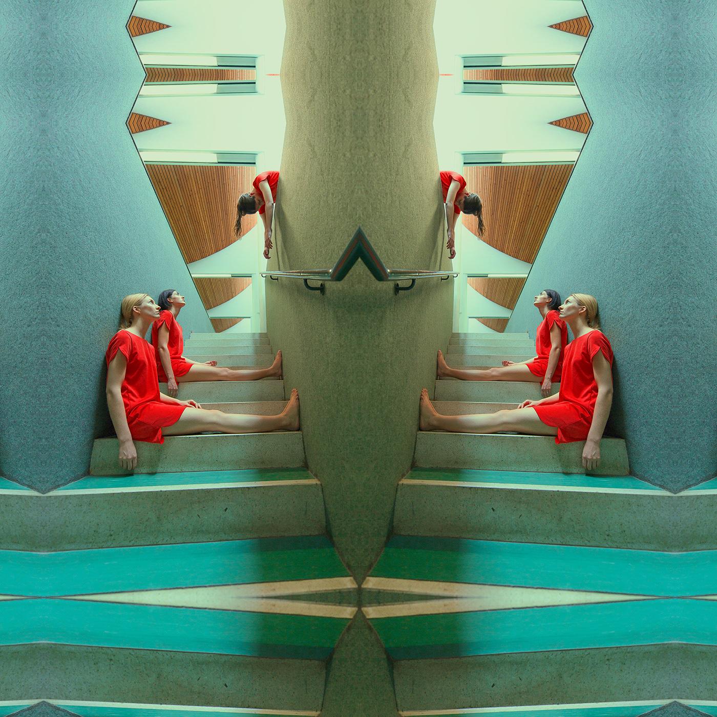 architectural colors conceptual design gym modern surrealart symmetric