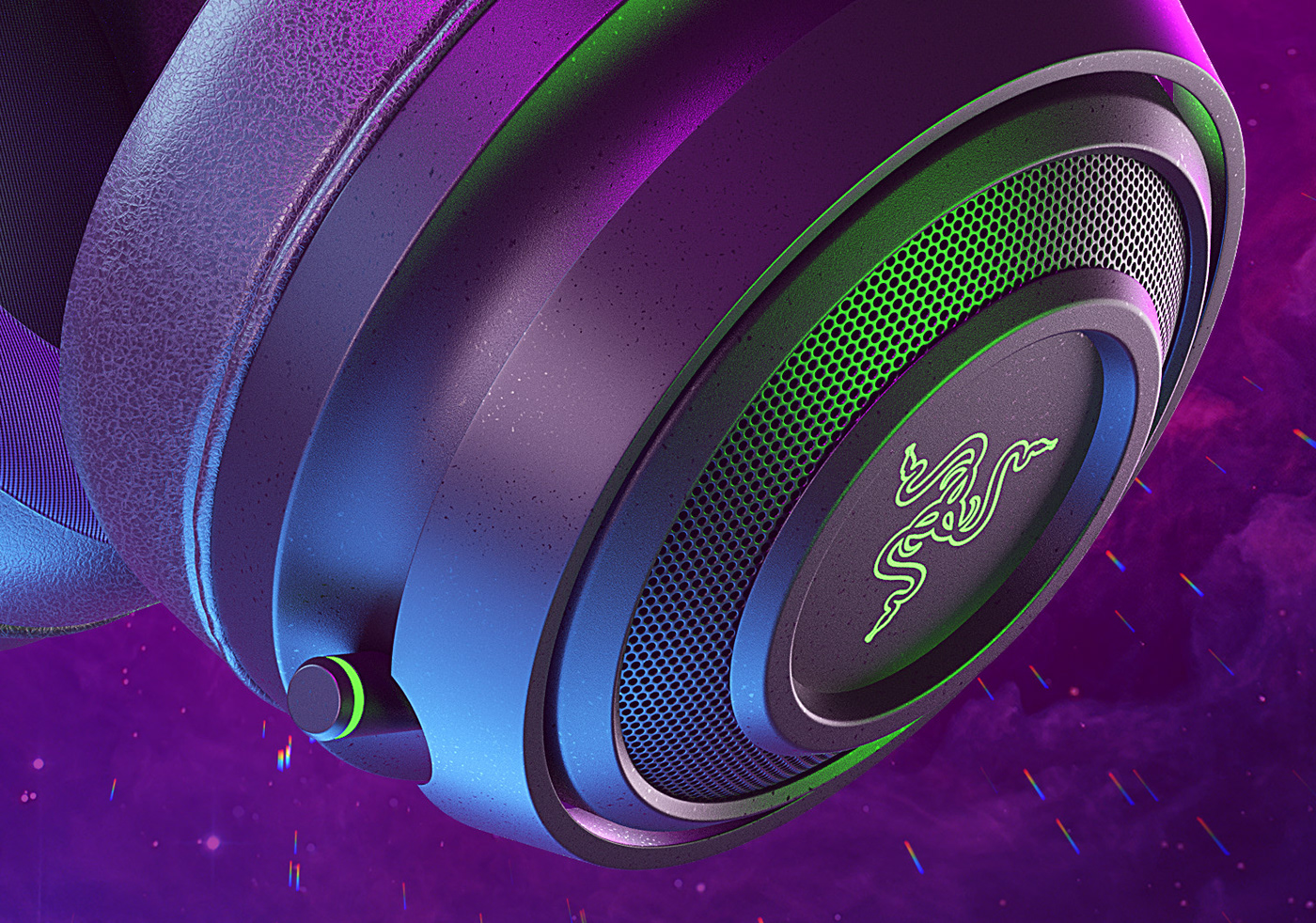 Audio bold bright Games Gaming headphone headset music Nari razer