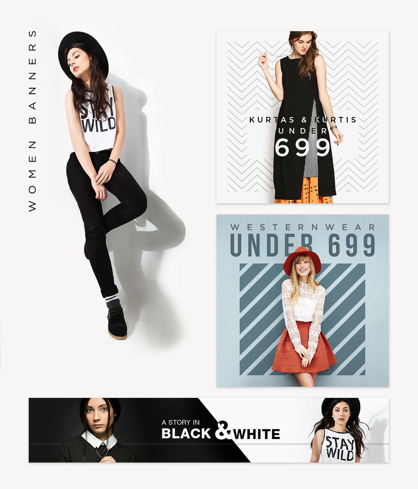 fashion web banners jensonart on behance