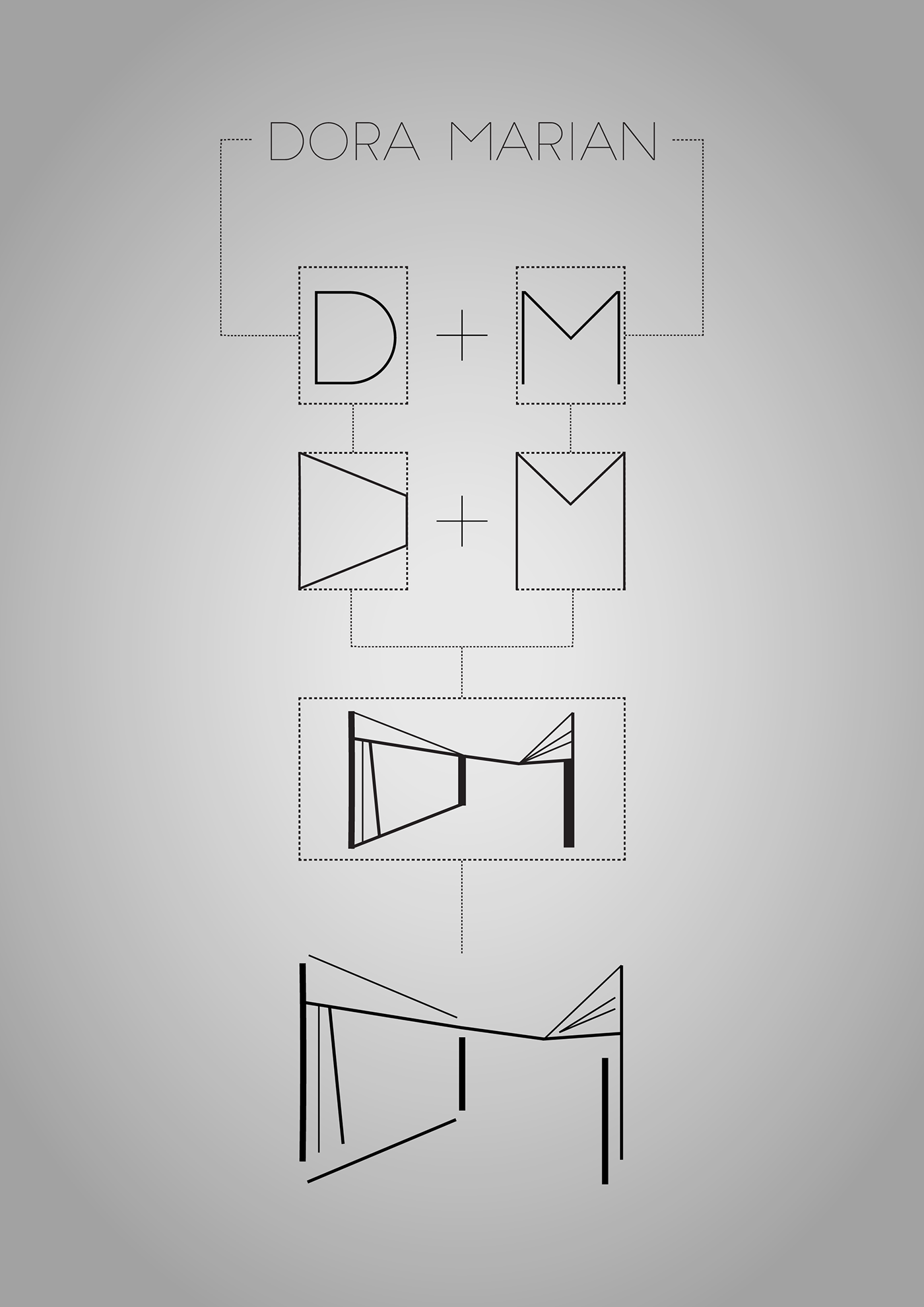 logo monogram geometric lines graphic design  Logo Design