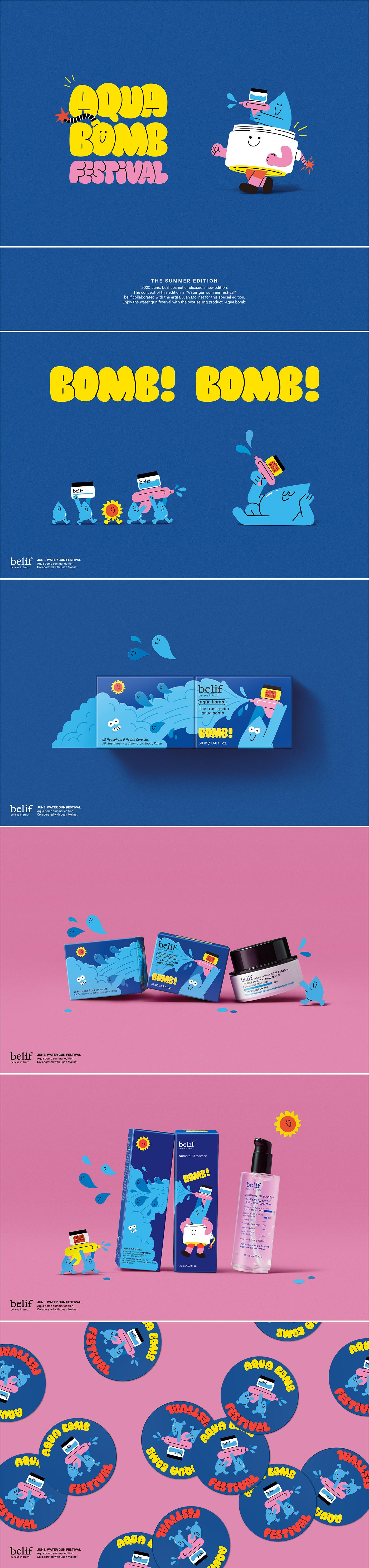 aqua branding  Character Cosmetic design edition graphic ILLUSTRATION  Packaging summer
