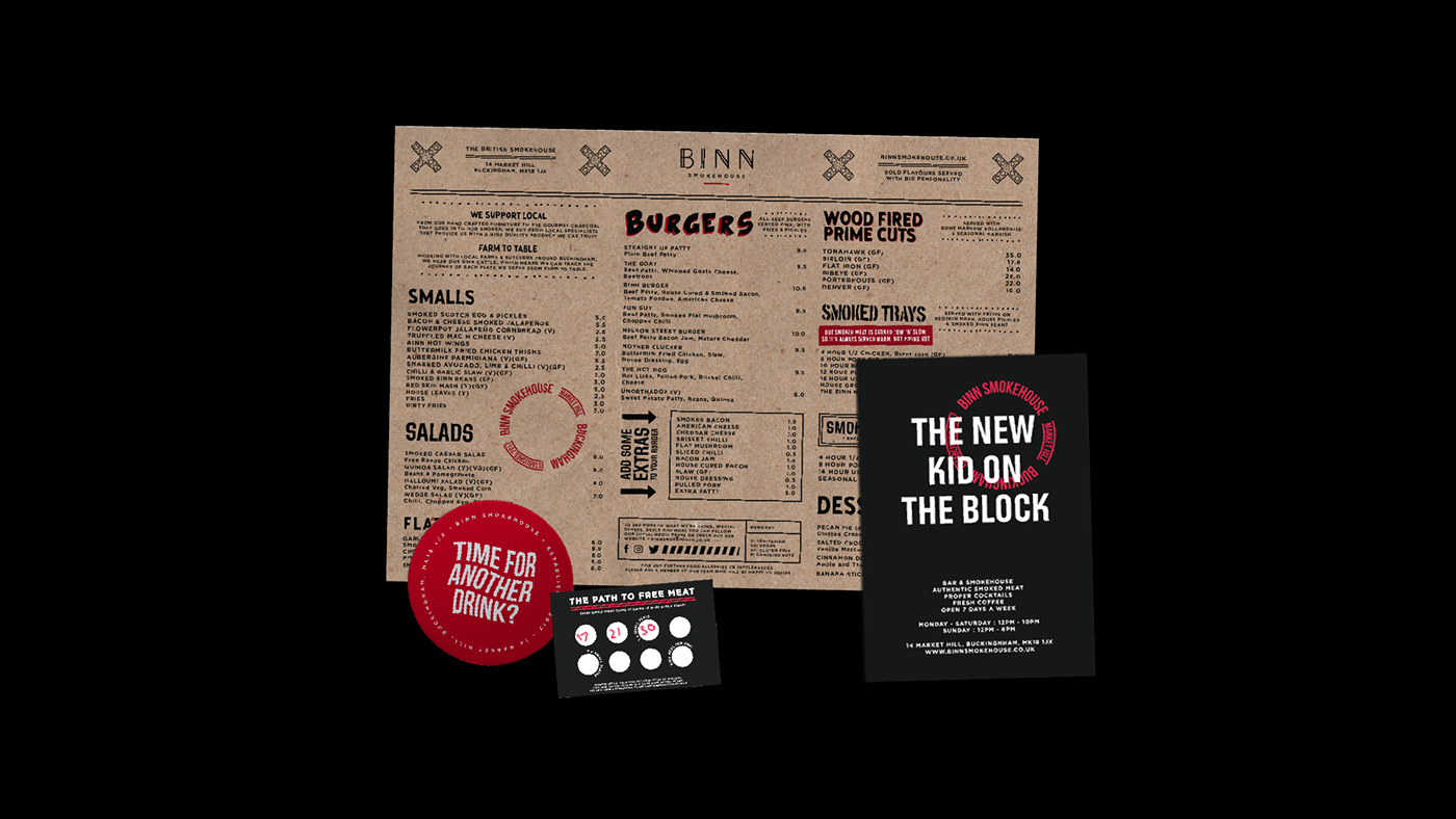 branding  identity menu tshirt restaurant Website design logo Food  smokehouse