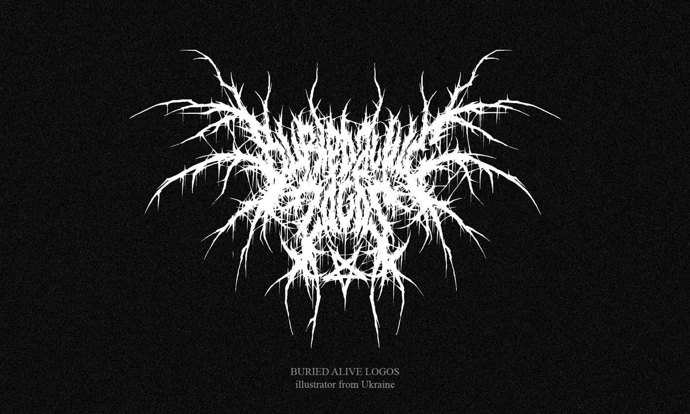 black black metal death metal gnoizm gothic lettering logo Logotype metal design metal logo