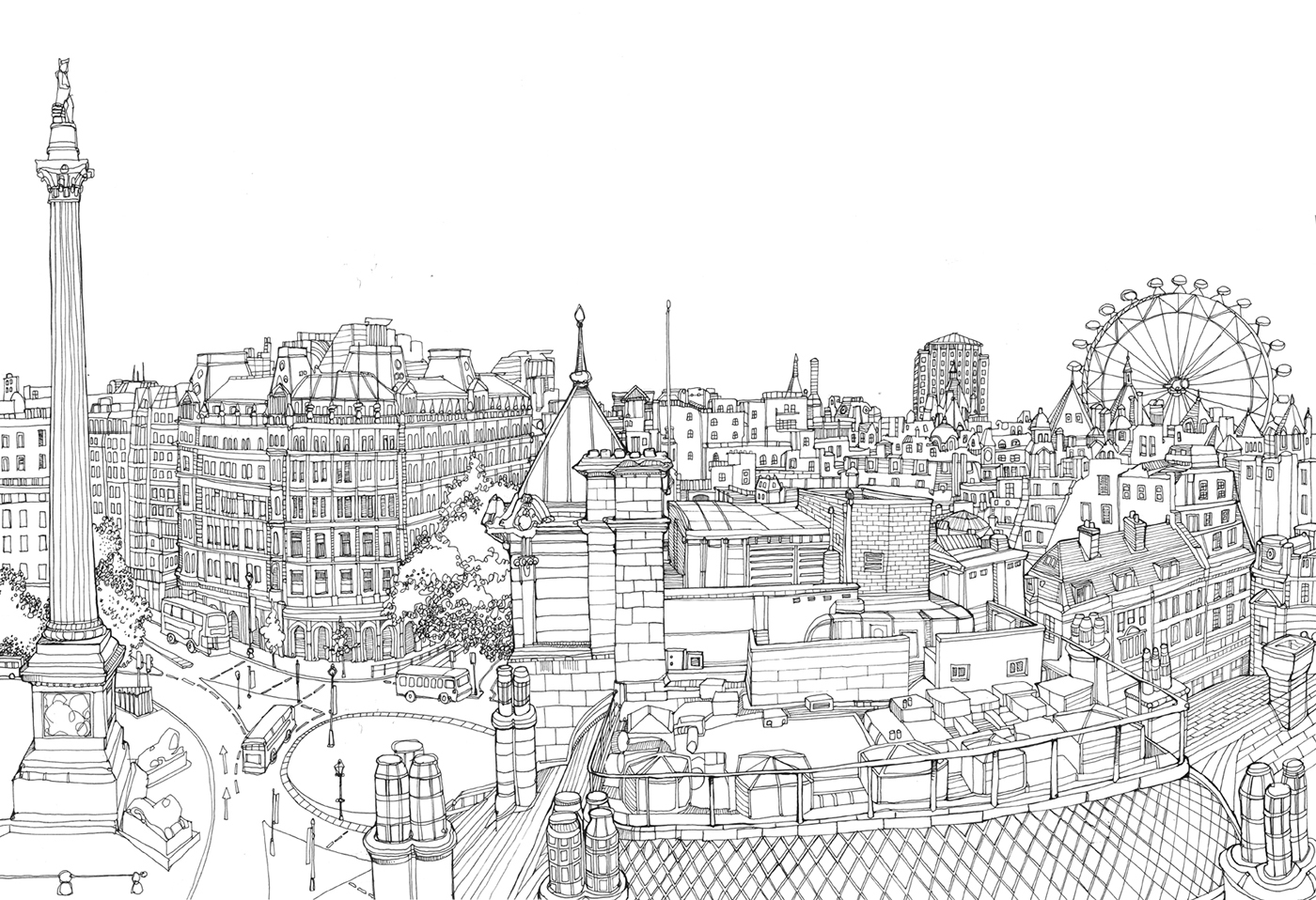раскраска картинок лондона даже марсе встречаем