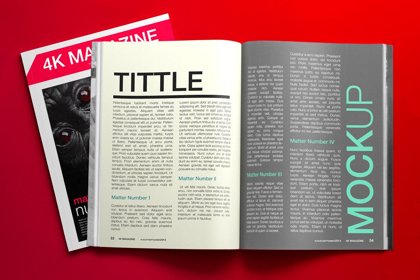 Free Psd Mockup 4k Magazine On Behance