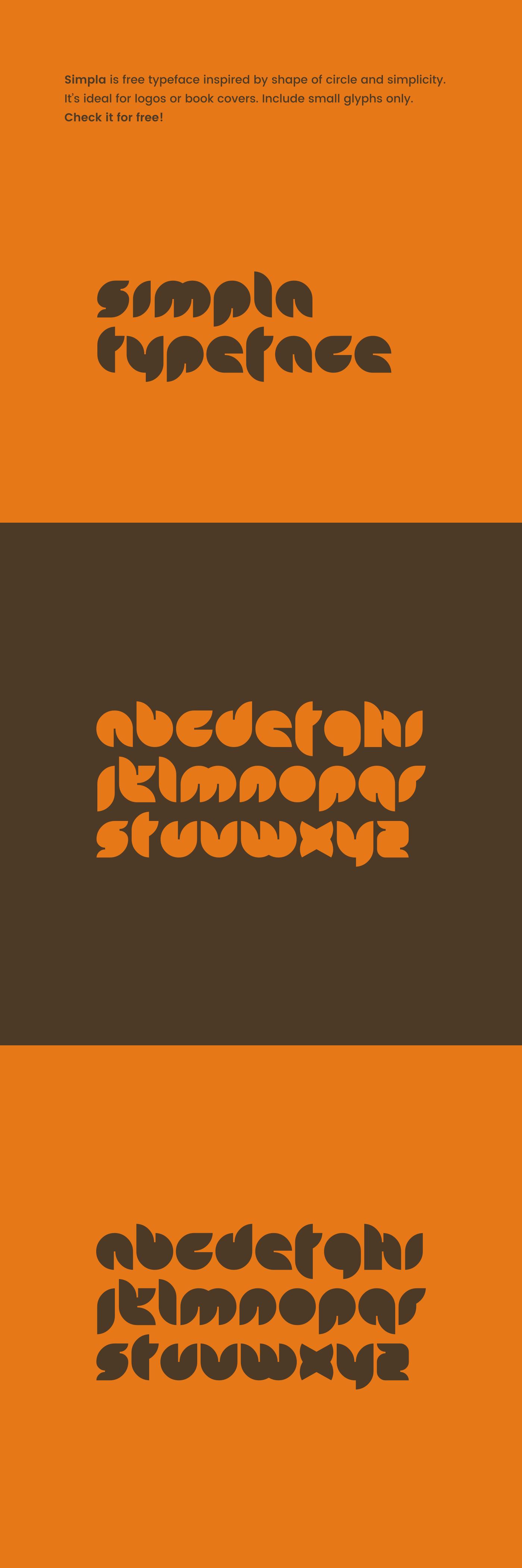 font simpla free typeface letters circles Typeface Free font orange minimal simple