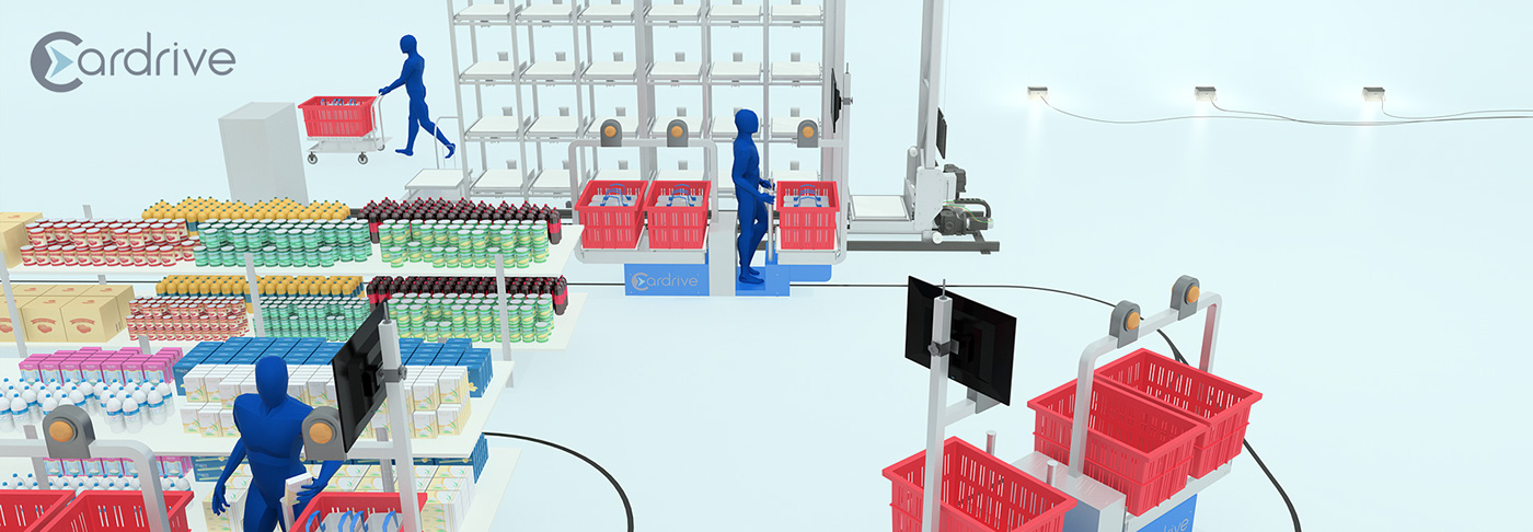 Cardrive visit card Logotype 3D automation robotic logistic start up