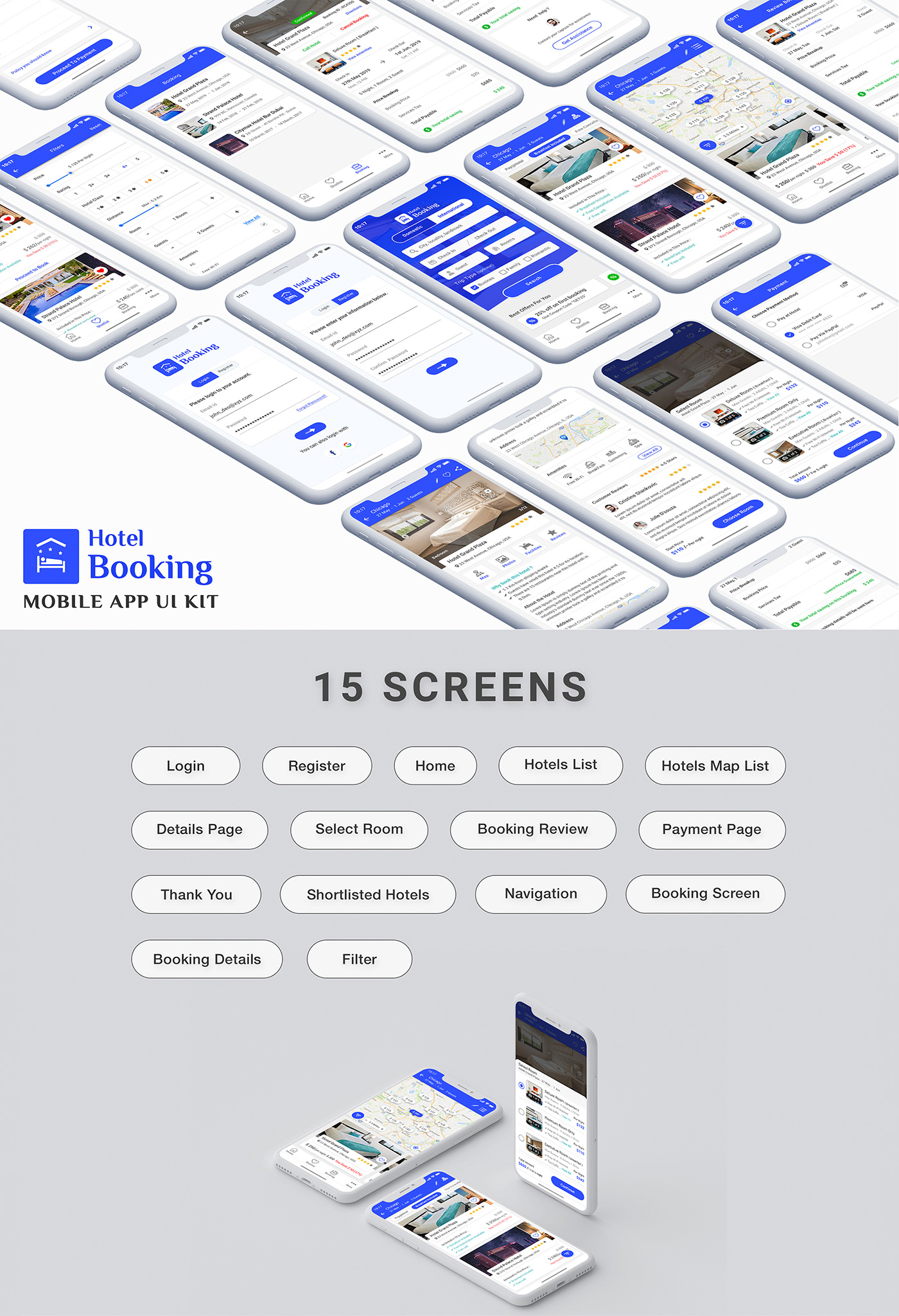 app Booking hotel Hotel app  hotel booking rooms apartment ui kit home stay resort